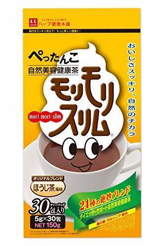 新品特価対応!モリモリスリム 30包(5g×30包) ハーブ健康本舗 モリモリスリム ( ほうじ茶風味 ) ( 30包 )_画像1