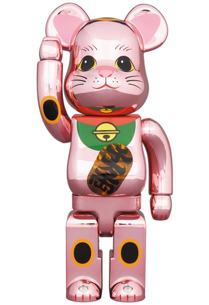 【即決送料込】 新品未開封 BE@RBRICK 招き猫 桃金メッキ 発光 400% ベアブリック メディコム MEDICOM TOY スカイツリー ソラマチ_画像1