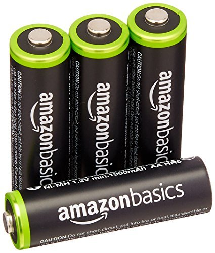 Amazonベーシック [電池 充電式ニッケル水素電池 単3形4個セット (最小容量1900mAh、約1000回使用可能)_画像1