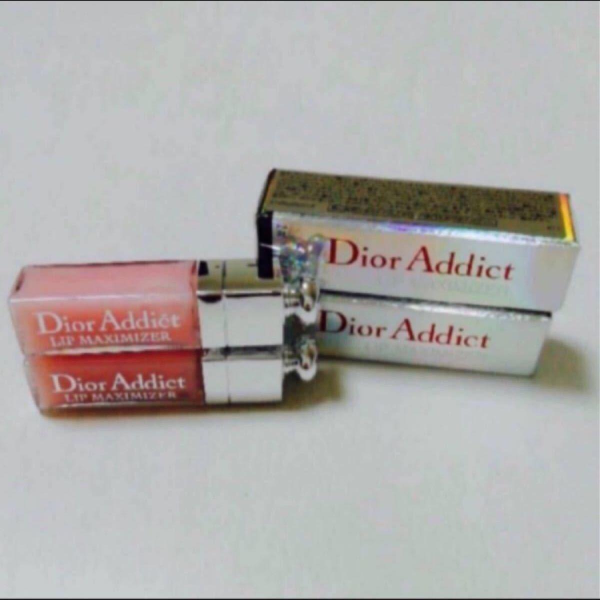 Dior ディオール アディクトリップマキシマイザー001ピンク ミニ 2本