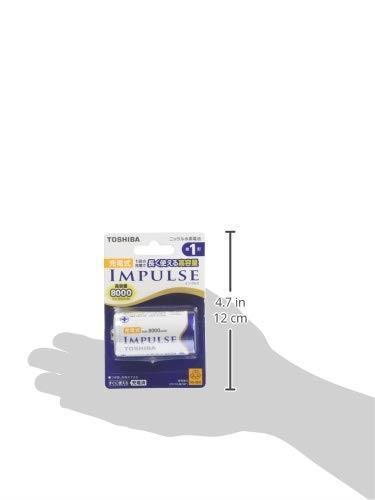 売れたら御免!!- TOSHIBA ニッケル水素電池 充電式IMPULSE 高容量タイプ 単1形充電池(min.8,000mAh) 1本 TNH-1A_画像3