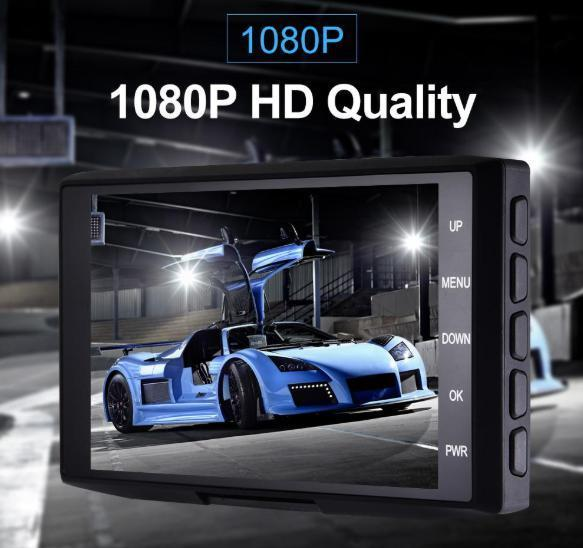 ドライブレコーダー 前後2カメラ 車載カメラ Gセンサー 1080P フルHD 駐車監視 モーション検知 ナイトビジョン ブラック_画像2