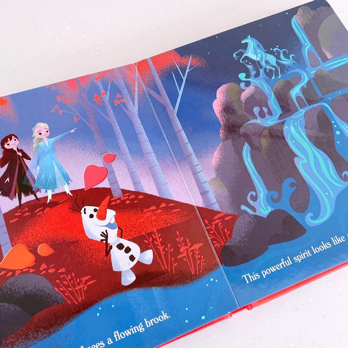 アナ雪 アナと雪の女王 エルサ アナ オラフ しかけ絵本 プリンセス 英語絵本 ディズニー 英語 絵本 森 dwe