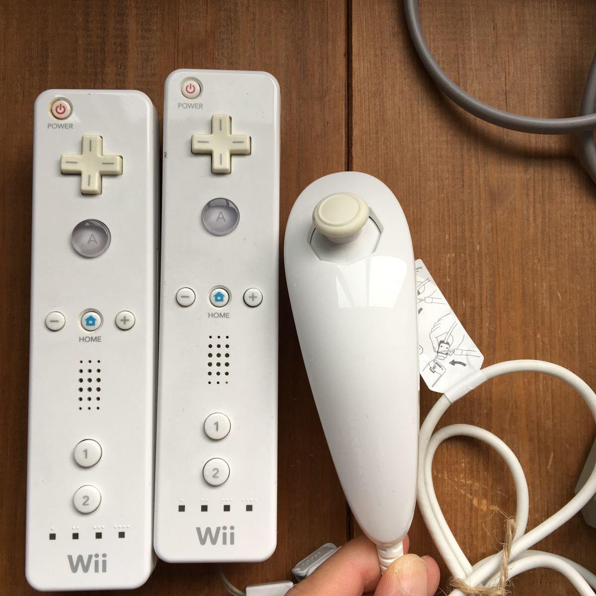 動作確認済み Wii 一式セット 本体 ソフト3本