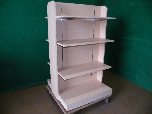 H150cm 木製 両面3段ラック/陳列棚■L-518_画像1