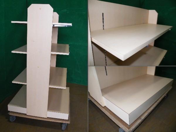 H150cm 木製 両面3段ラック/陳列棚■L-518_画像2