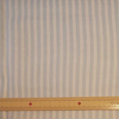 ストライプ柄 ダブルガーゼ くすみブルー 生地巾約108cm×約30cm