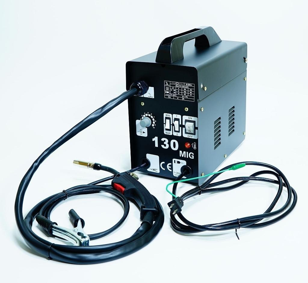 最新!半自動溶接機 MIG130 単相100V仕様!鉄・ステンを御家庭でもお手軽に溶接!便利なロングトーチケーブ仕様
