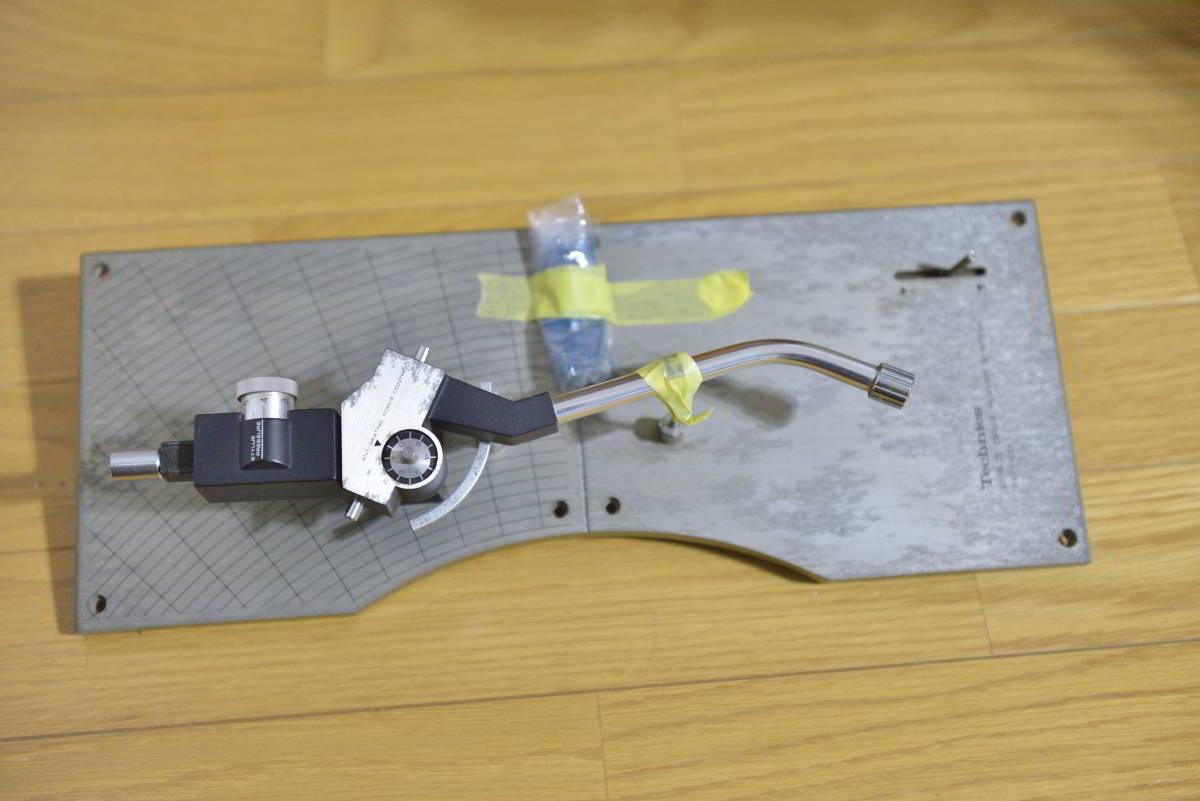 中古品 Technics SL-1100 テクニクス トーンアーム アームボード_プレート表面汚い