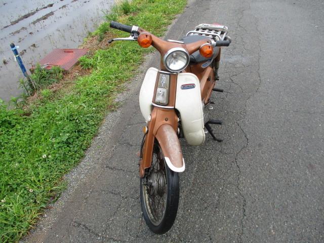 「三重 バイク ホンダ スーパーカブ C70 カモメ 行灯 セル付き ゴールド 希少 不動車 旧車 昭和 引き取り歓迎」の画像2