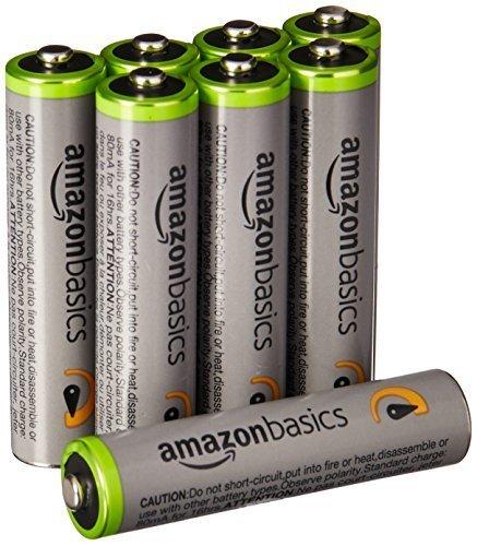 ベーシック 充電池 高容量充電式ニッケル水素電池単4形8個セット (充電済み、最小容量 800mAh、約500回使用_画像1