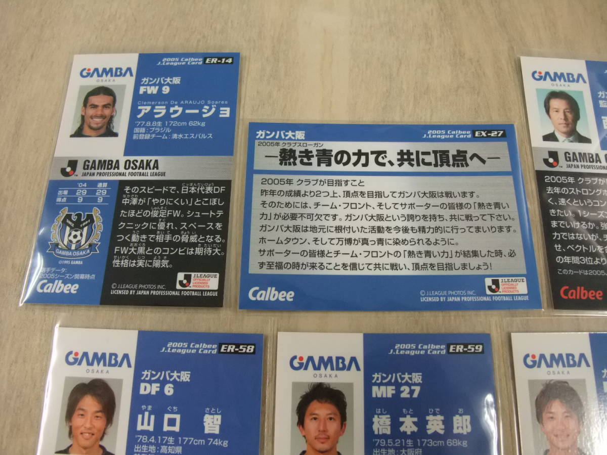 カルビー Jリーグ 2005 ガンバ大阪 6枚セット 非売品 交換 限定 ラッキーカード サッカーカード_画像7