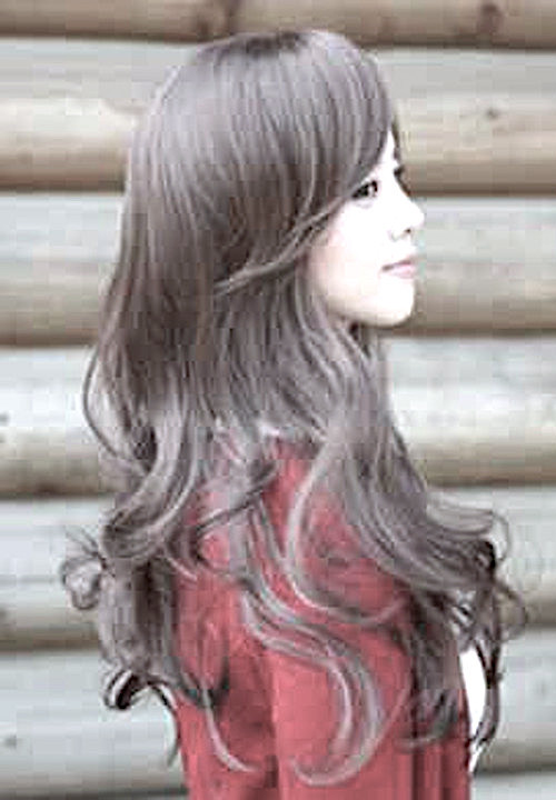 ブラック ゆるふわ ウィッグ ロング カール フルウイッグ 前髪 長め レディース 女っぽくもカジュアル_画像5