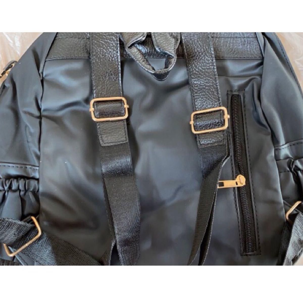 リュックサック 大容量 マザーズバッグ レディース 黒 通学 防水 通勤 軽量 多収納 かばん ゴールド A4 レザー リュック