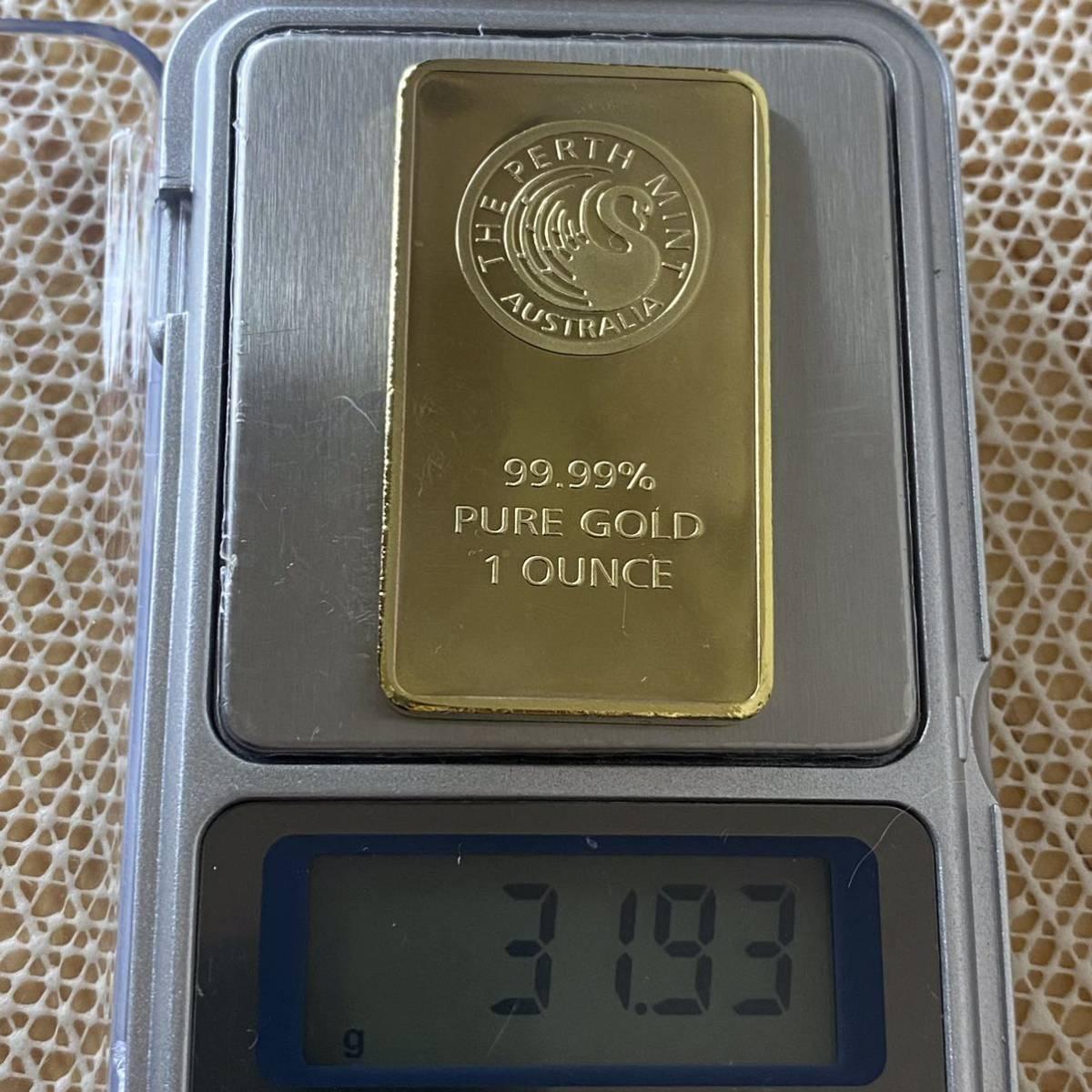 (4007)外国金貨 オーストラリアFINE GOLD ゴールドバー 地金バー 完全限定発行