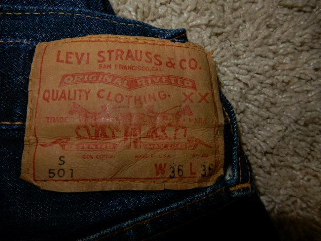 濃紺 60's LEVIS 501 BIGE Sタイプ 希少サイズ 36×36 表記 ビンテージ リーバイス オリ