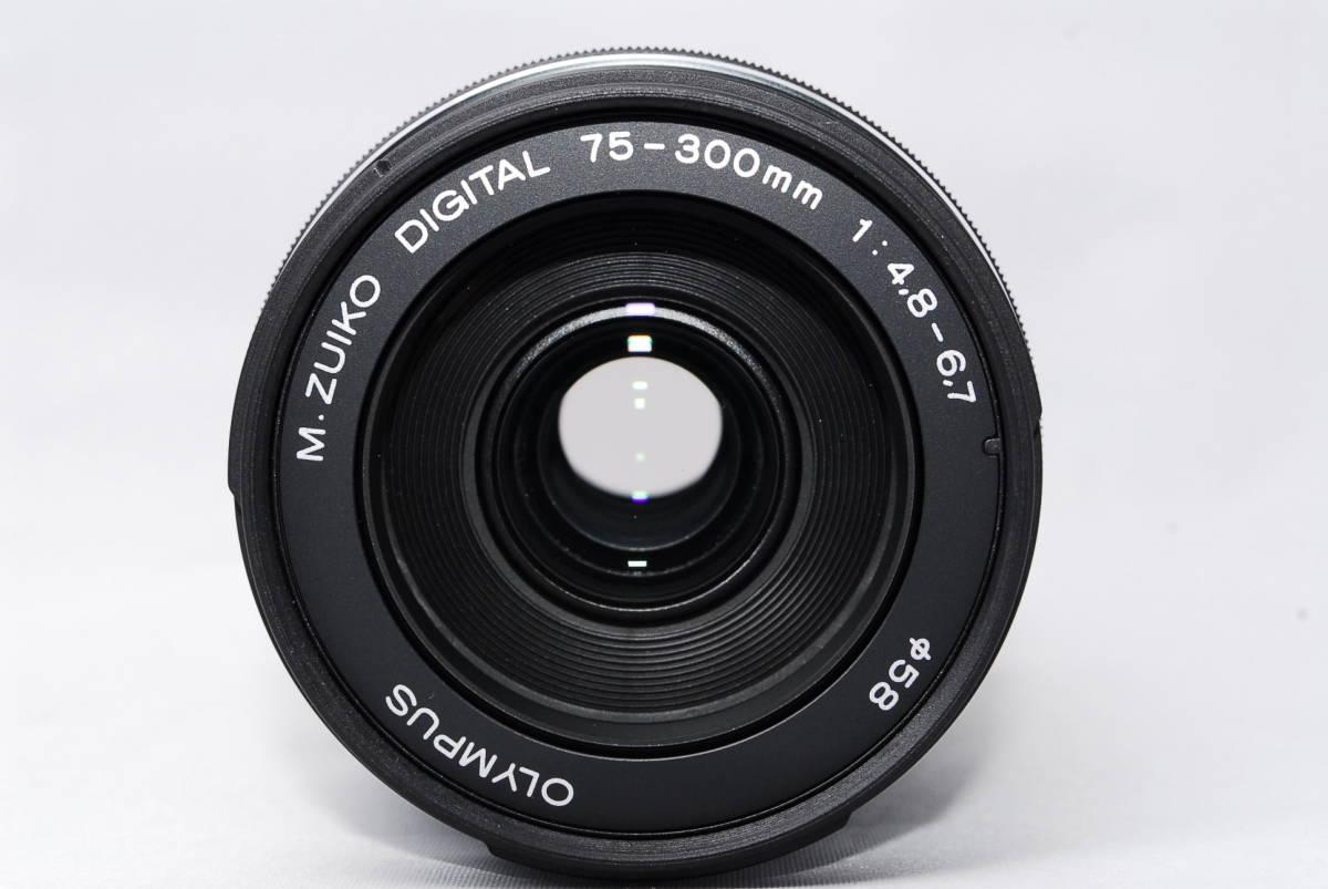 ◆極上美品◆ オリンパス OLYMPUS M.ZUIKO DIGITAL ED 75-300mm F4.8-6.7 II ズームレンズ 超望遠 ★動作確認済み★ スレキズわずか!_画像3
