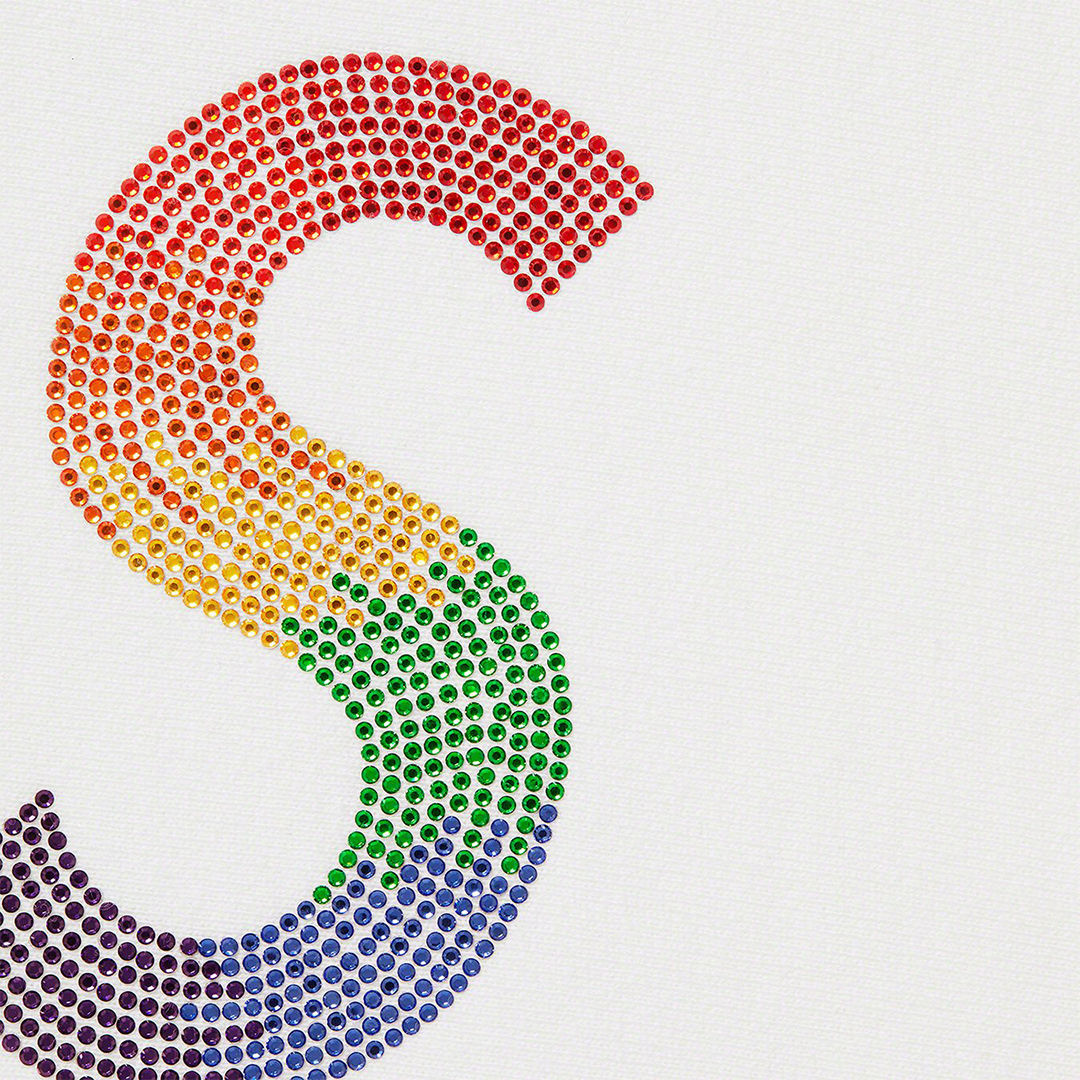 1405 Supreme Swarovski S Logo Hooded Sweatshirt White L シュプリーム スワロフスキー Sロゴ パーカー 白 L 2021SS_画像2