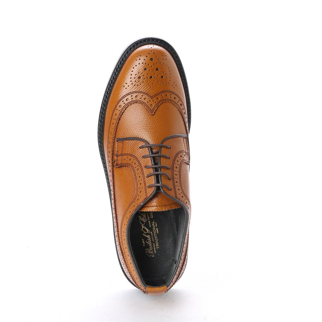 【アウトレット】【リーガル 外注工場】【レザーソール】紳士靴 革靴 メンズ ビジネスシューズ ウィングチップ 5154 ブラウン 茶 26.0cm