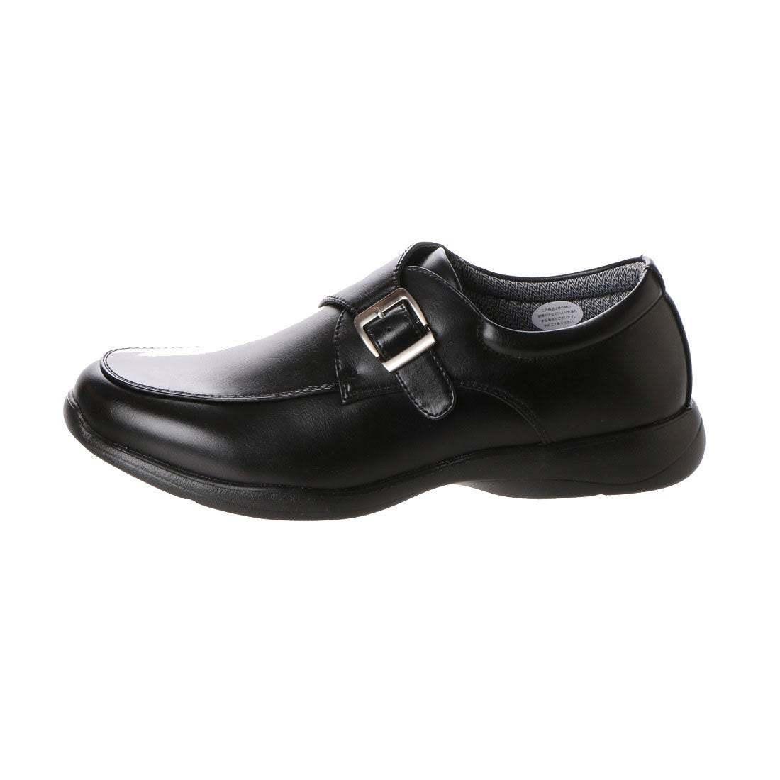 【安い】【超軽量】【防水】【幅広】GRAVITY FREE メンズ ウォーキング ビジネスシューズ 紳士靴 革靴 402 ベルト ブラック 黒 25.5cm