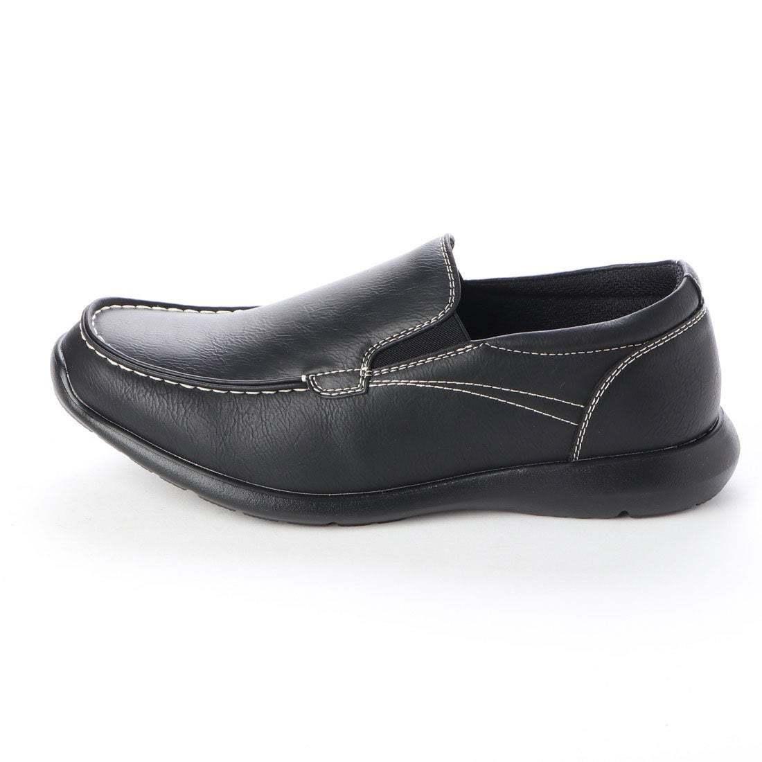【安い】【超軽量】【防水】【幅広】GRAVITY FREE メンズ ウォーキング ビジネスシューズ 紳士靴 革靴 606 スリッポン ブラック 黒 25.0cm