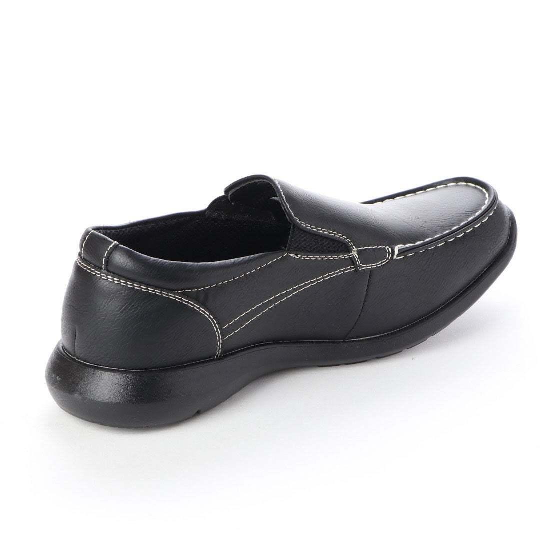 【安い】【超軽量】【防水】【幅広】GRAVITY FREE メンズ ウォーキング ビジネスシューズ 紳士靴 革靴 606 スリッポン ブラック 黒 25.5cm