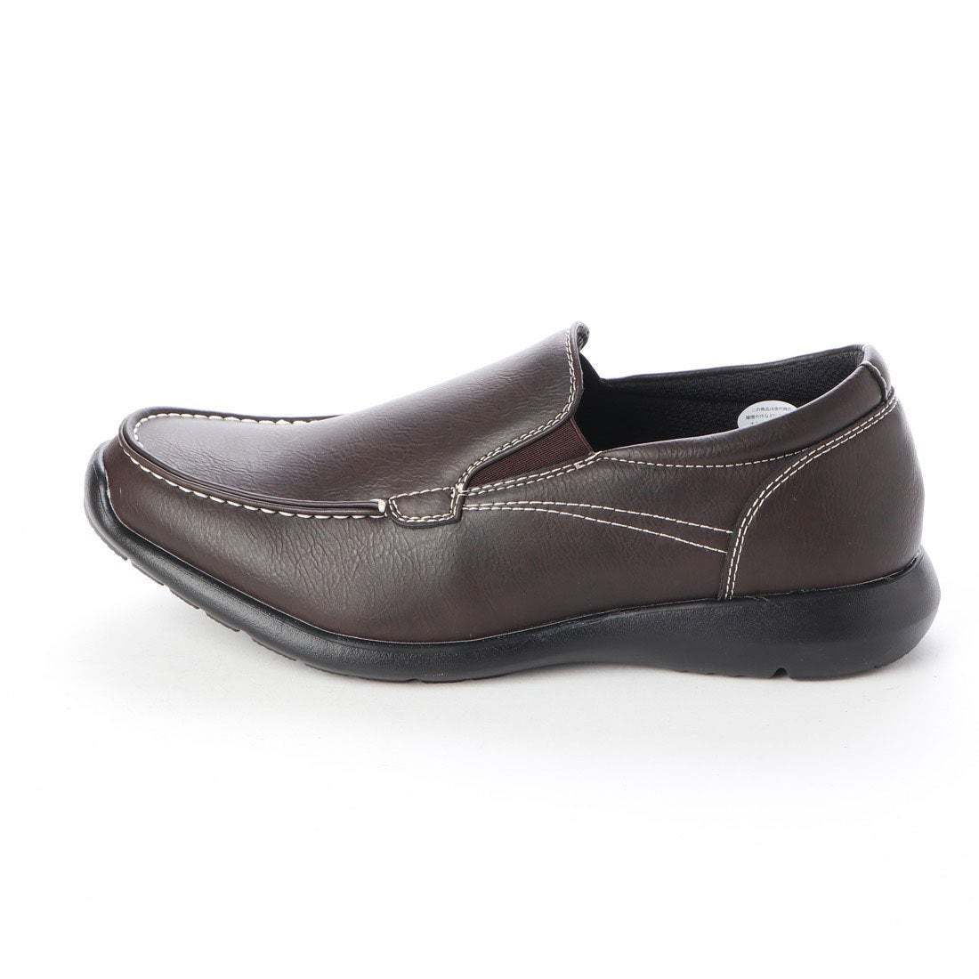 【安い】【超軽量】【防水】【幅広】GRAVITY FREE メンズ ウォーキング ビジネスシューズ 紳士靴 革靴 606 スリッポン ブラウン 茶 27.0cm