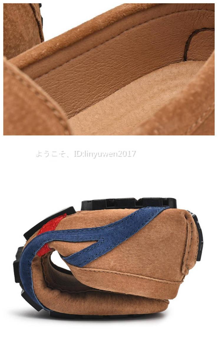ローファー メンズ 紳士靴 カジュアル スリッポン ドライビングシューズ 滑り止め 柔らかい 「24cm-29.5cm選択可」黒 26.5cm_画像7