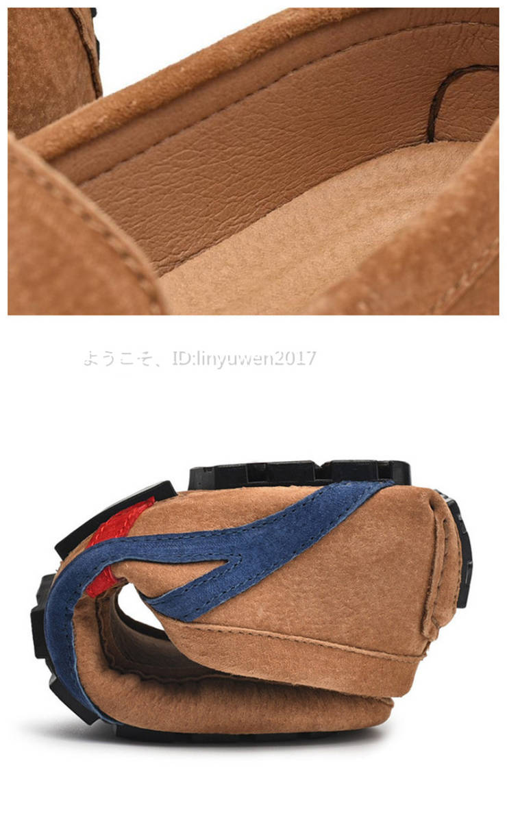 ローファー メンズ 紳士靴 カジュアル スリッポン ドライビングシューズ 滑り止め 柔らかい 「24cm-29.5cm選択可」黒 27.5cm_画像7