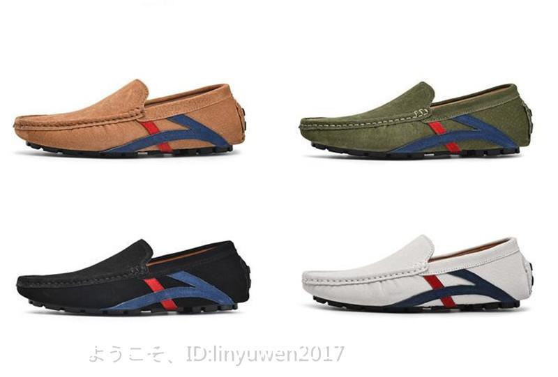 ローファー メンズ 紳士靴 カジュアル スリッポン ドライビングシューズ 滑り止め 柔らかい 「24cm-29.5cm選択可」黒 27.5cm_画像9
