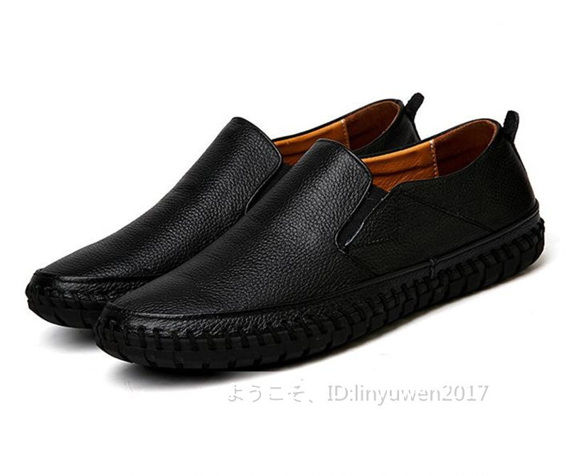 スリッポン 新品*メンズ ローファー ドライビングシューズ 紳士靴 カジュアル 滑り止め 柔らかい 通学 黒 26.5cm_画像4