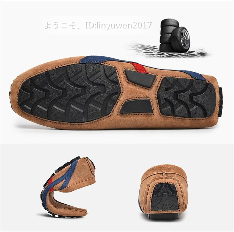 ローファー メンズ 紳士靴 カジュアル スリッポン ドライビングシューズ 滑り止め 柔らかい 「24cm-29.5cm選択可」黒 27.5cm_画像6