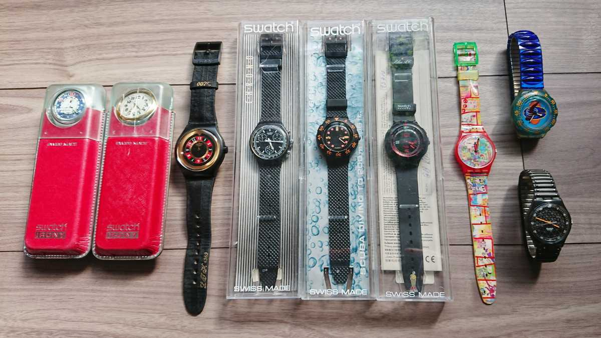 Swatch 9本セット(未使用品5本 中古品4本) Barrier Reef/License To Kill/Red Jack/Black Friday/Preppie など