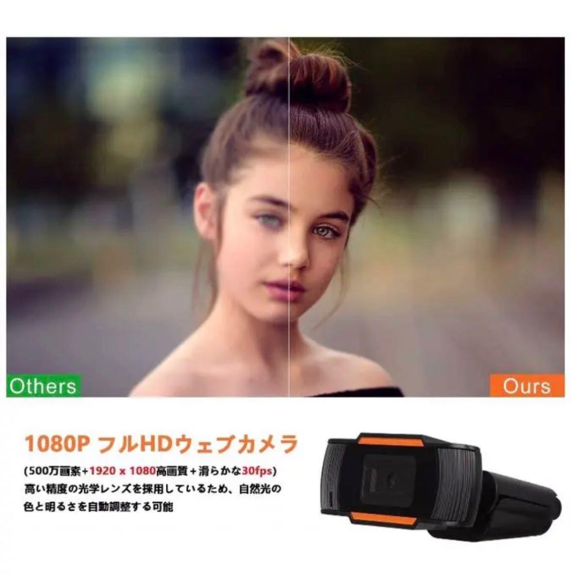 フルHD1080Pウェブカメラ webカメラ PCカメラ 自動光補正 マイク内蔵