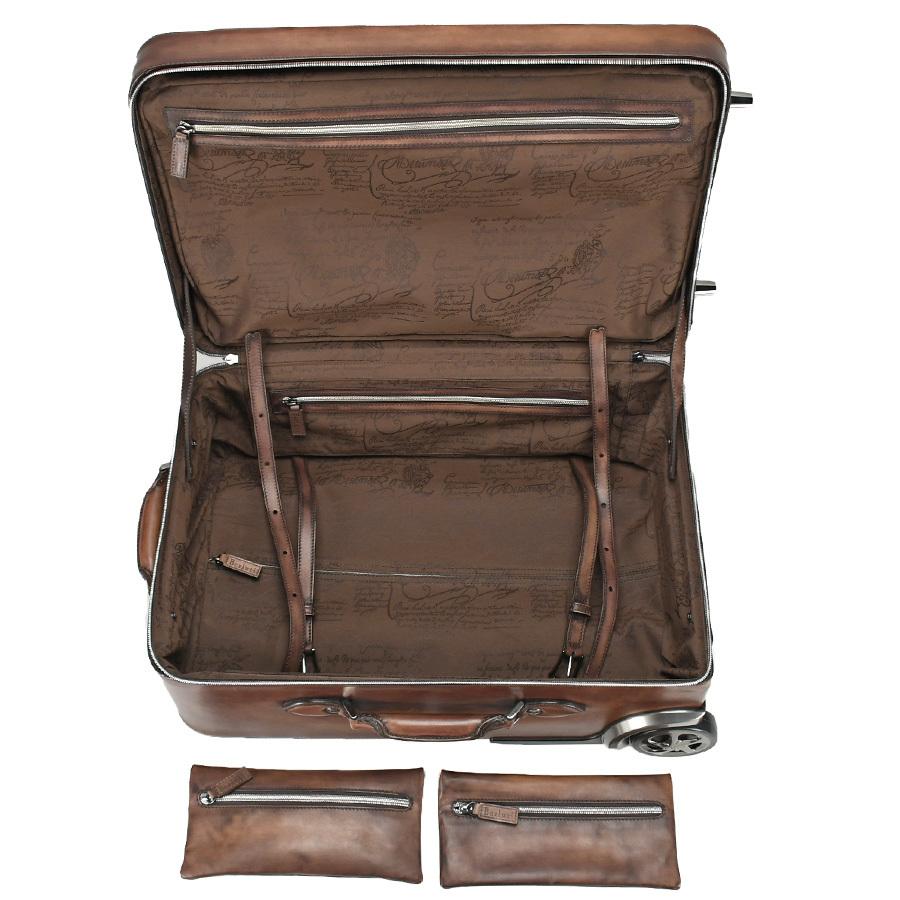 ベルルッティ Berluti FORMULA 1000 フォーミュラ キャリーバッグ レザー ブラウン 茶 トロリー スーツケース ビジネス 新同品_画像6