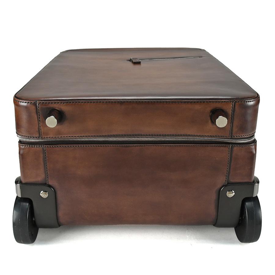ベルルッティ Berluti FORMULA 1000 フォーミュラ キャリーバッグ レザー ブラウン 茶 トロリー スーツケース ビジネス 新同品_画像5
