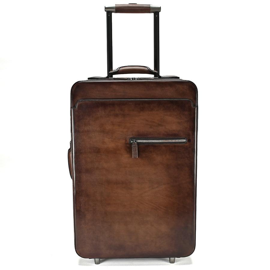 ベルルッティ Berluti FORMULA 1000 フォーミュラ キャリーバッグ レザー ブラウン 茶 トロリー スーツケース ビジネス 新同品_画像7