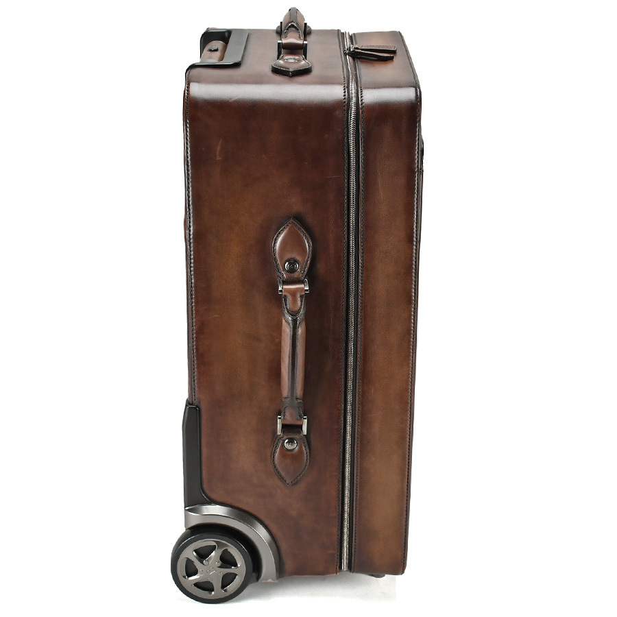 ベルルッティ Berluti FORMULA 1000 フォーミュラ キャリーバッグ レザー ブラウン 茶 トロリー スーツケース ビジネス 新同品_画像2