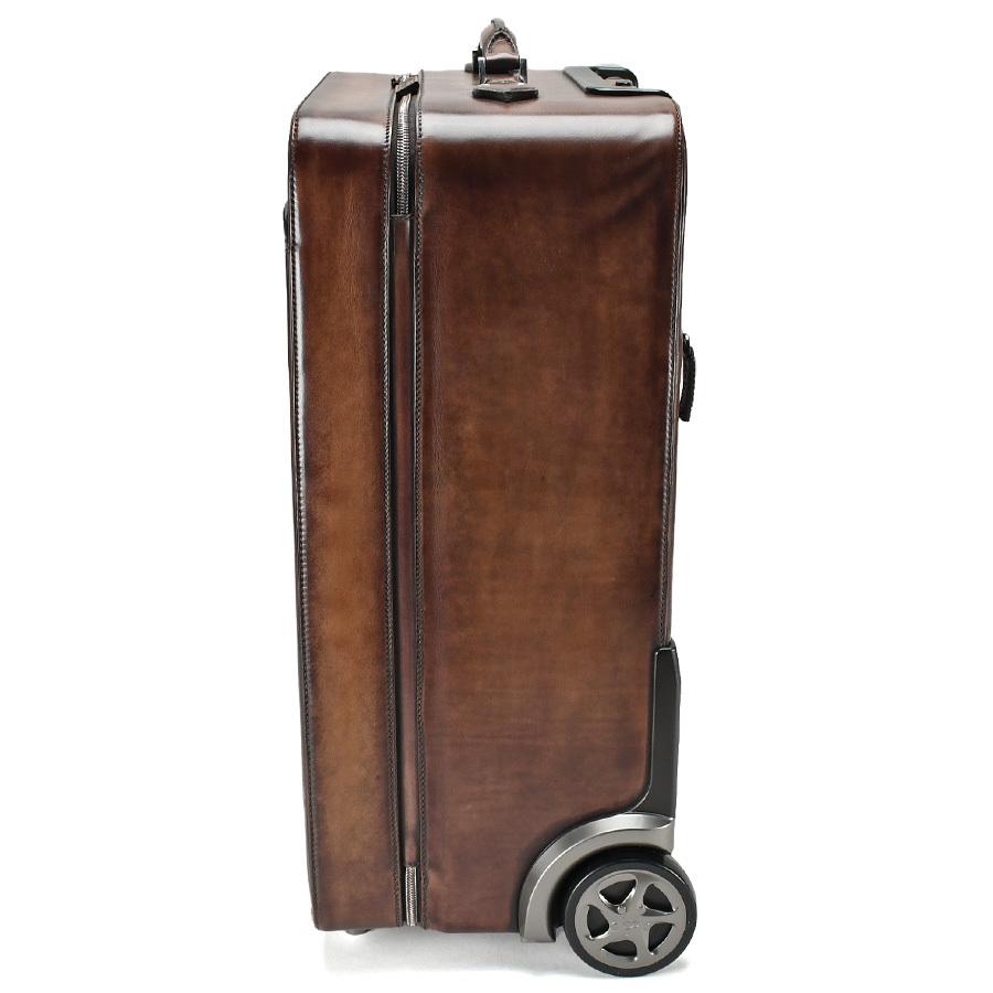 ベルルッティ Berluti FORMULA 1000 フォーミュラ キャリーバッグ レザー ブラウン 茶 トロリー スーツケース ビジネス 新同品_画像4