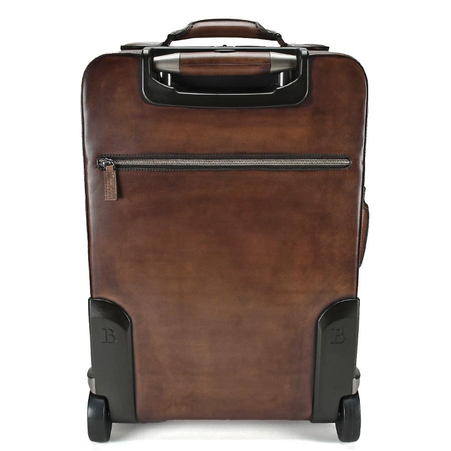ベルルッティ Berluti FORMULA 1000 フォーミュラ キャリーバッグ レザー ブラウン 茶 トロリー スーツケース ビジネス 新同品_画像3