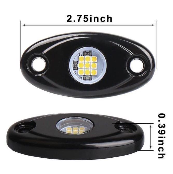 [送料無料] 最新 レッド8個セット LEDロックライト スポット アンダー ライト_画像5