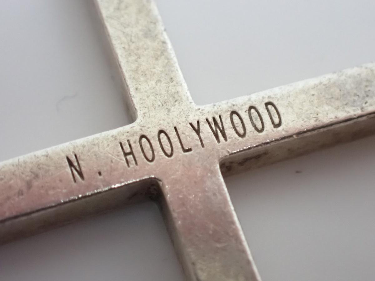 ★N.HOOLYWOOD/N.ハリウッド クロスネックレス 全長約87.5cm/約20.6g/シルバー/十字架#1296000200_画像5