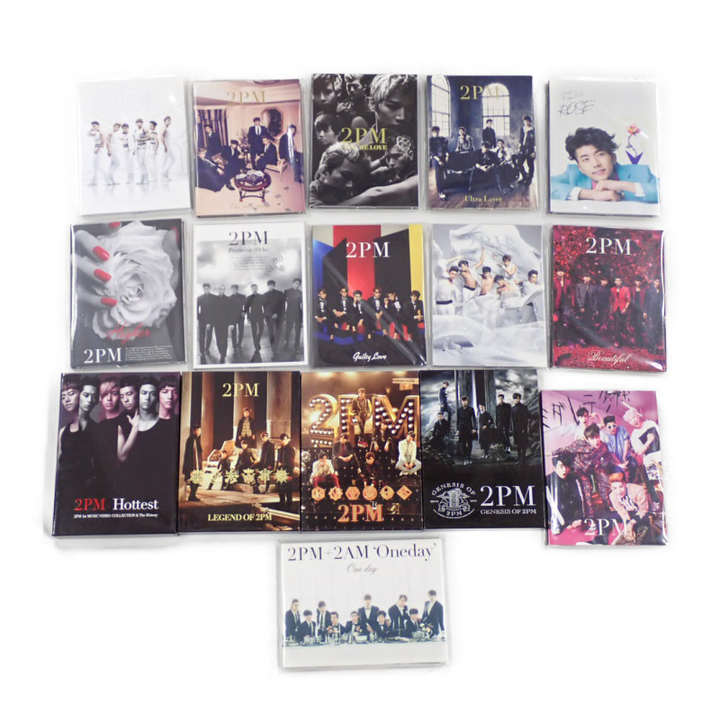 ★2PM CD + DVD 16点セット/LEGEND OF 2PM/2PM OF 2PM/Hottest/GENESIS OF 2PM/Take off/I'm your man/ミダレテミナ 等/韓国#1606200001_画像1
