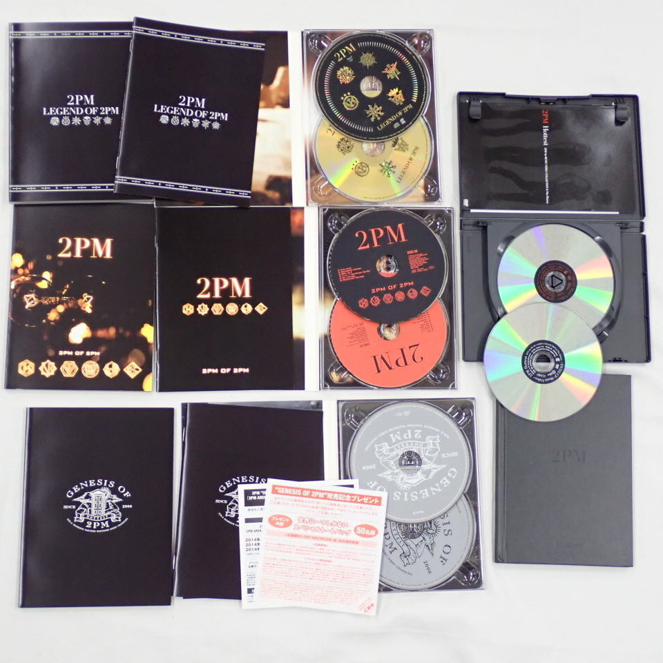 ★2PM CD + DVD 16点セット/LEGEND OF 2PM/2PM OF 2PM/Hottest/GENESIS OF 2PM/Take off/I'm your man/ミダレテミナ 等/韓国#1606200001_画像3