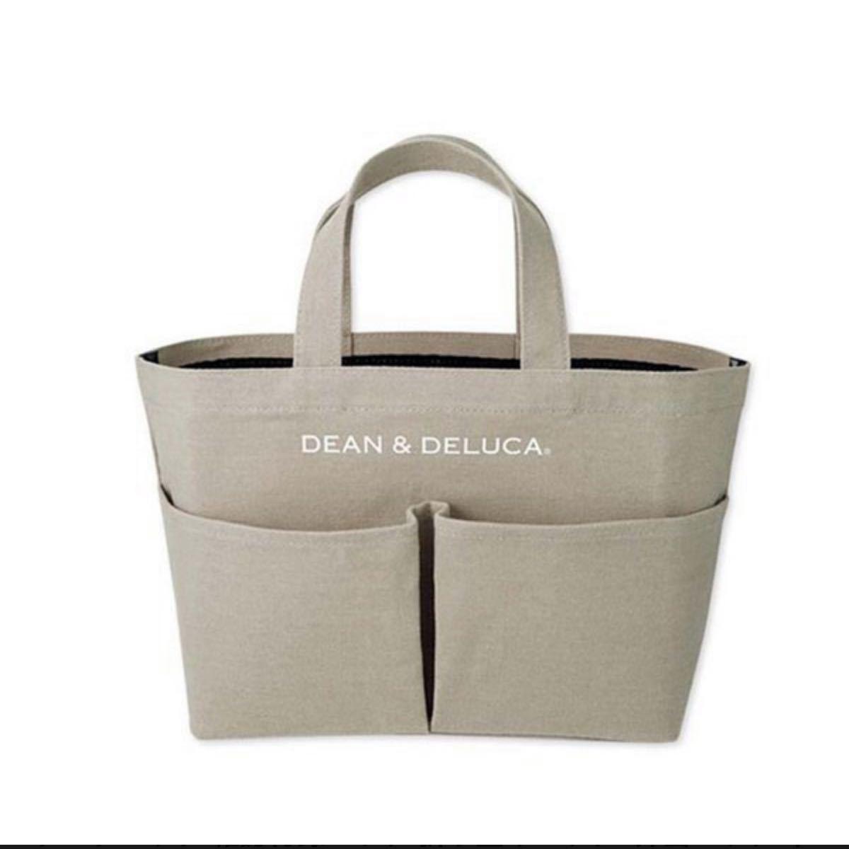 DEAN&DELUCA ディーン&デルーカ キャンバストートバッグ トートバッグ エコバッグ ベージュ カフェカラー