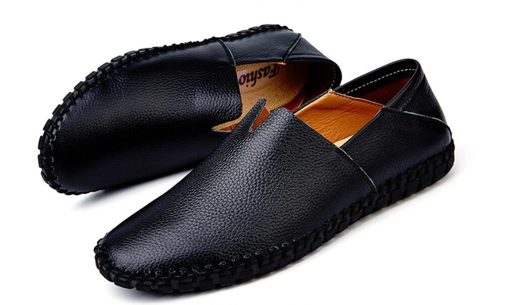 カジュアルシューズ 新品 スリッポン メンズ ローファー ドライビング 紳士靴 滑り 止め 柔らかい スリッパ 黒 25cm 上質_画像5