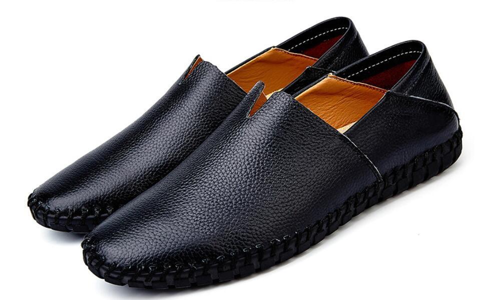 カジュアルシューズ 新品 スリッポン メンズ ローファー ドライビング 紳士靴 滑り 止め 柔らかい スリッパ 黒 25cm 上質_画像6