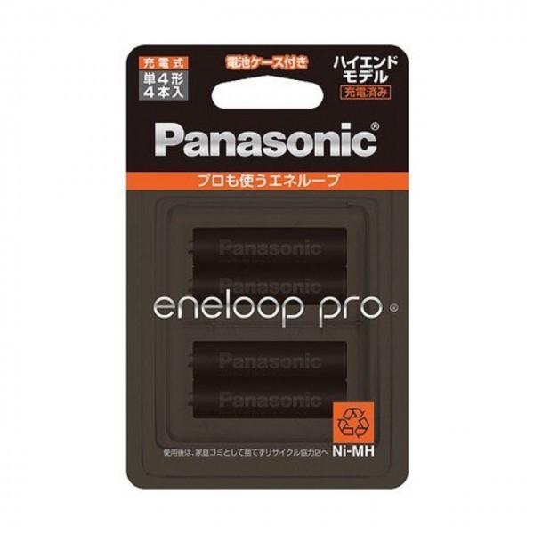 【新品未使用未開封】Panasonic パナソニック エネループ PRO 単4形充電池 4本パック 大容量モデル エネループ BK-4HCD/4C_画像1