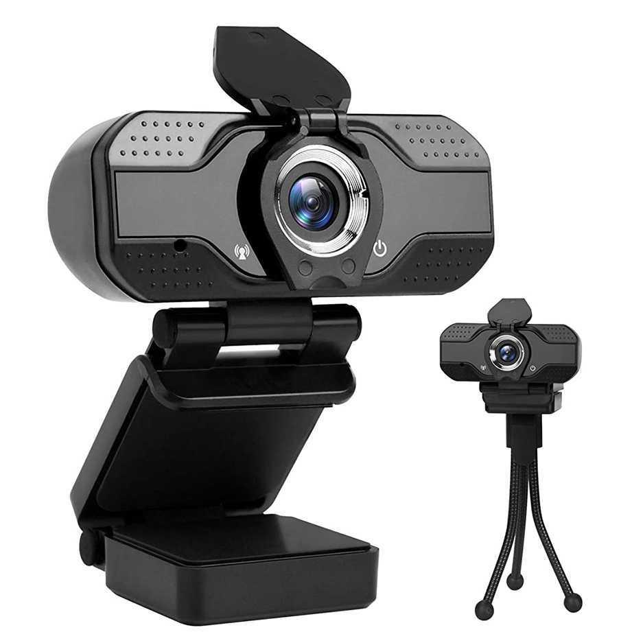 Webカメラ フルHD1080P ウェブカメラ 30FPS高解像度 90°広角 固定焦点 内蔵全方向性ノイズリダクションマイク 三脚スタンド付き使いやすい