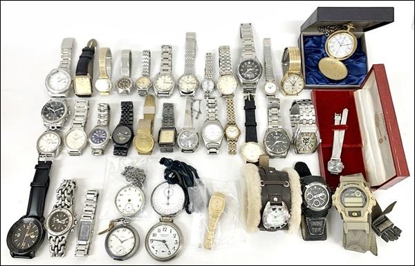 17 00-000000-00 [Y] セイコー ラドー ロンジン ウォルサム 他 自動巻き クオーツ 等 腕時計 懐中時計 まとめて セット 総重量約2.5Kg 鹿00